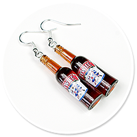 earrings bottles of beer