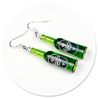 earrings bottles of beer no. 4