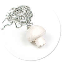 necklace with champignon