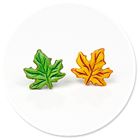 plug-in earrings (leafs)