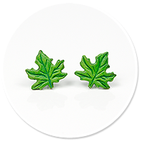 plug-in earrings (leafs) no. 3