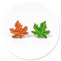 plug-in earrings (leafs) no. 8