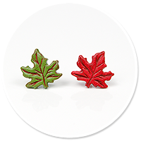 plug-in earrings (leafs) no. 2