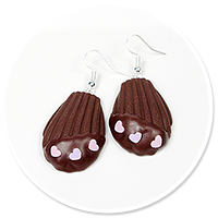 earrings cookie with chocolate
