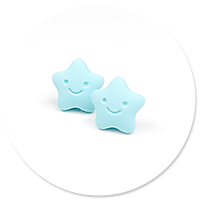 plug-in earrings stars (blue)