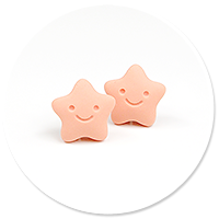 plug-in earrings stars (orange)