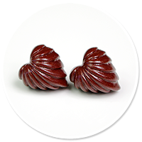 plug-in earrings pralines