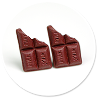 plug-in earrings chocolates